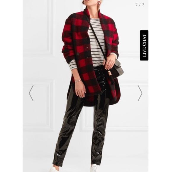 6d9623eef49aef Isabel Marant Jackets & Coats   Gino Plaid Wool Blend Coat 38   Poshmark